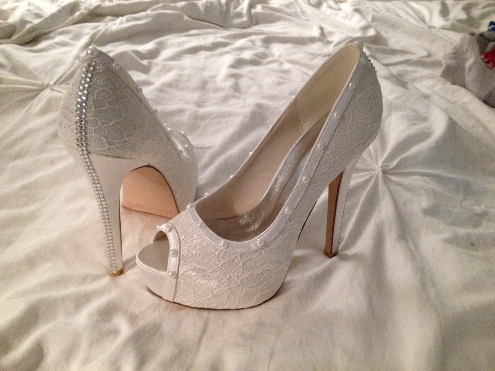 DIY Bridal Shoes – My Lace Platform Pumps Inspired by $1,200 Rene Caovilla Stilettos